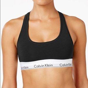 Calvin Klein White and Black Sports Bra